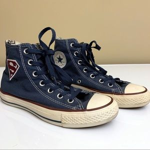 Superman Converse All Star Chuck Taylor Shoes 7.5